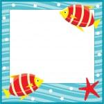 Framework for photos. Sea theme. Fishes. — Stock Vector #8751943