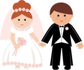 Wedding couple. — Stock Vector