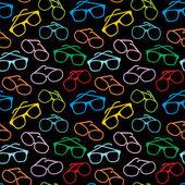 Modèle d'accessoires lunettes soleil sans soudure — Vecteur