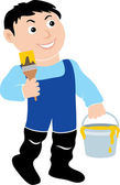 House-painter. — Stock Vector
