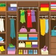 Wardrobe room. Furniture. - 图库矢量图片
