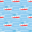 Seamless ships pattern — Stock Vector