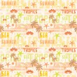 Stock Vector: Seamless tropical pattern