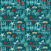 Seamless tropical pattern — Stock Vector