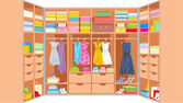Wardrobe room. Furniture — Vecteur