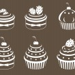 Cupcakes set — Stock Vector #9811069