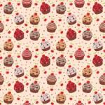 Seamless cupcake pattern — Stock Vector #9811076