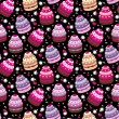 Seamless cupcake pattern — Stock Vector #9811077