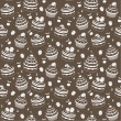 Seamless cupcake pattern - Stock Vector