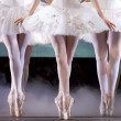 Ballerinas perform on stage — Stock Photo