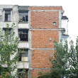 Zdjęcie stockowe: Dilapidated tenement block will dismantled