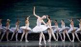 Russian royal ballet perform Swan Lake ballet — Stock Photo