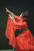 Chinese Yue opera performer make a show on stage — Stock Photo