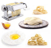 Set of products and tools for homemade pasta — Stock Photo
