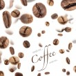 Flying coffee beans — Stock Photo #10620073