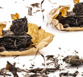 Zwarte thee — Stockfoto