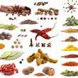 Collection of different spices and herbs — Foto de Stock