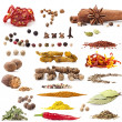 Stock Photo: Different spices and herbs