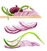Collection of onions — Stock Photo