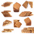 Collection shortbread cookies on white background — Stock Photo