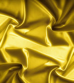 Golden satin texture, brocade — Stock Photo
