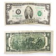 Two bucks banknote — Stock Photo