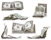 Collection of one dollar — Stock Photo