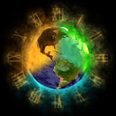 2012 - Transformation of consciousness on Earth - America — Stock Photo