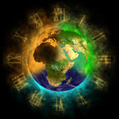2012 - Transformation of consciousness on Earth - Europe, Asia, Africa — Stock Photo