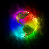 Rainbow planet Earth - America — Stock Photo