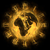 Cosmic time - global warming and climate change - Europe — Stock Photo