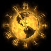 Cosmic time - global warming and climate change - America — Stock Photo