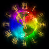 Cosmic clock - optimistic future on Earth - America — Stock fotografie