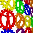 Like gears - company, work, individuality, population — Stock Photo #9141014