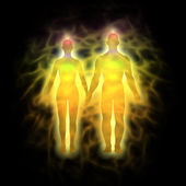 Human aura - couple — Stock Photo