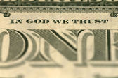 V boha věříme - bankovka jeden dolar — Stock fotografie