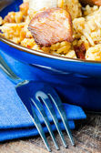 Plov and fork — Stock Photo