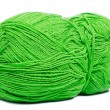 Green thread ball — Stock Photo