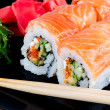 Roll made of salmon — Stock Photo #10335790