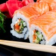 Royalty-Free Stock Photo: Roll made of salmon