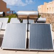 Stock Photo: Solar water heater