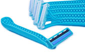 Bunch of blue razors — Foto de Stock
