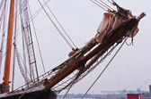 Lowered sails — Stock Photo