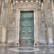 Door and wall at Justice palace at Brussels - Stockfoto