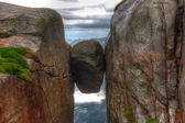 Kjerag stone — Stock Photo