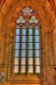Stained glass window of church close up — Foto de Stock