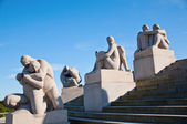 Vigeland Sculpture Park in Oslo Norway — Foto de Stock