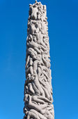 Popular Vigeland park in Oslo Norway — Stock Photo