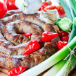Sausage with spices — Stock Photo