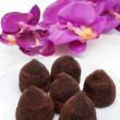 Truffle chocolates close up — Stock Photo
